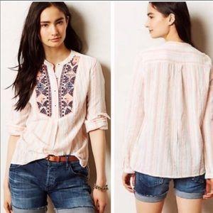 holding horses mesa peasant embroidered stripe top